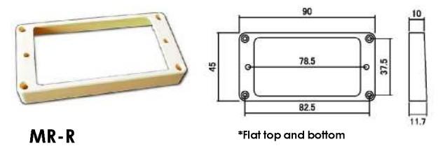 Hosco MR-RI. Рамка бриджевого хамбакера (Flat top).
