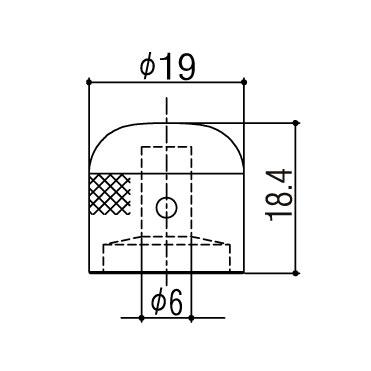 Ручка потенциометра Gotoh VK1-19 CK
