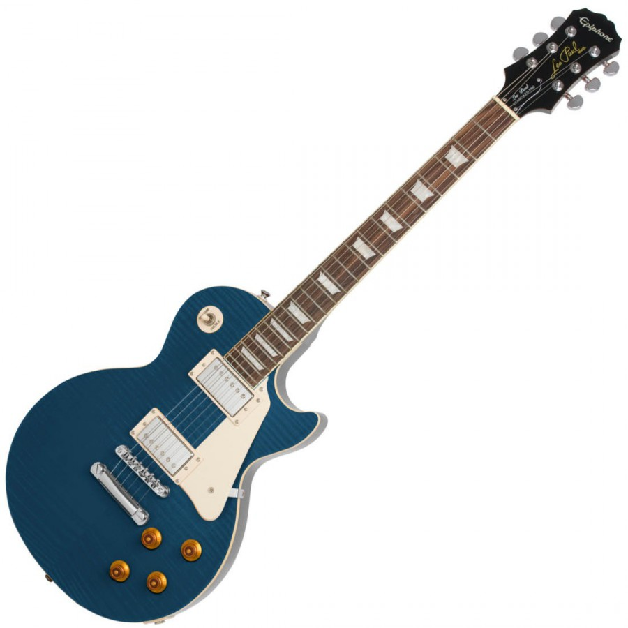Электрогитара Epiphone LES PAUL STANDARD PLUS TOP PRO TRANS BLUE