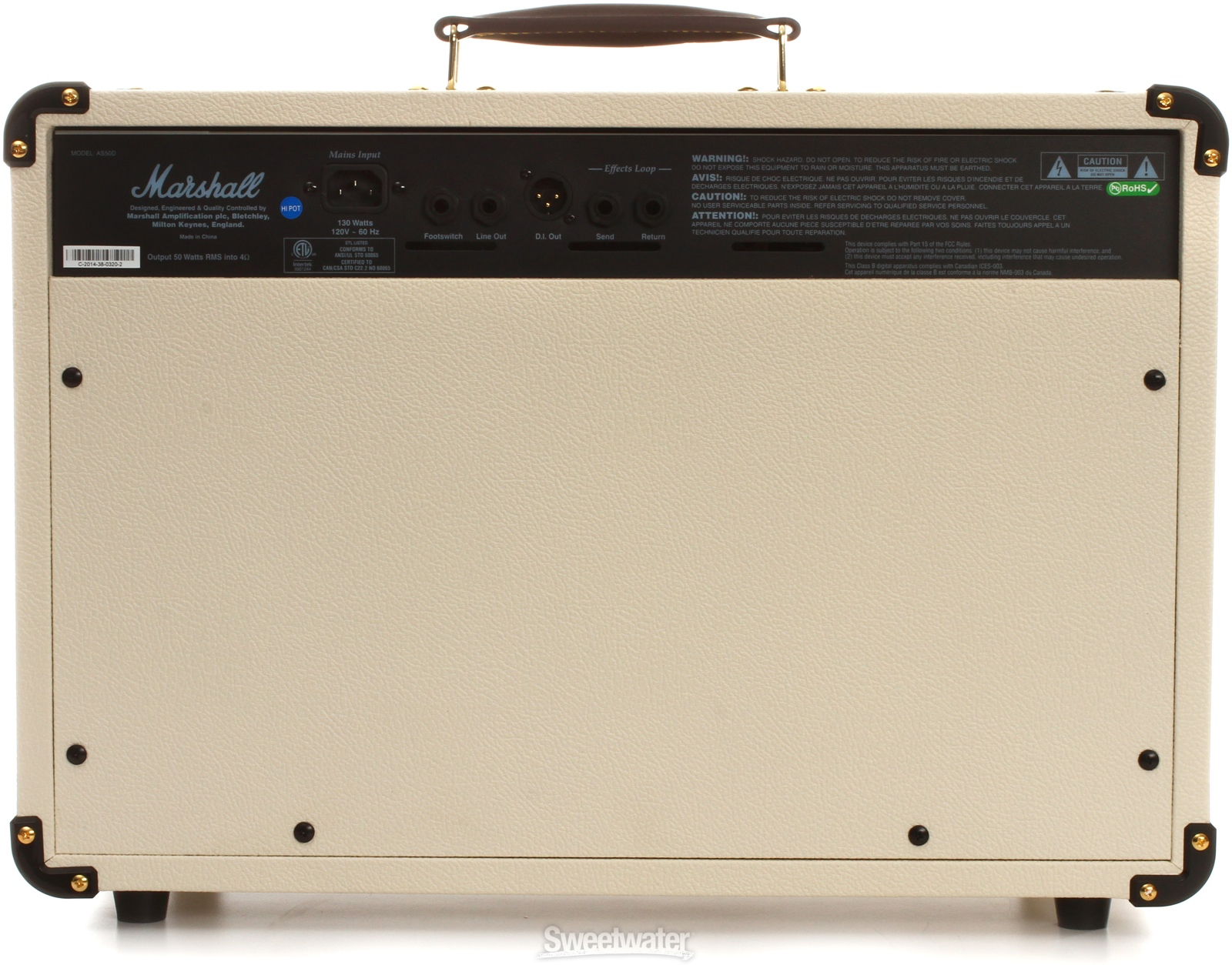 Комбоусилитель MARSHALL AS50D-E 50W Soloist Limited Edition White