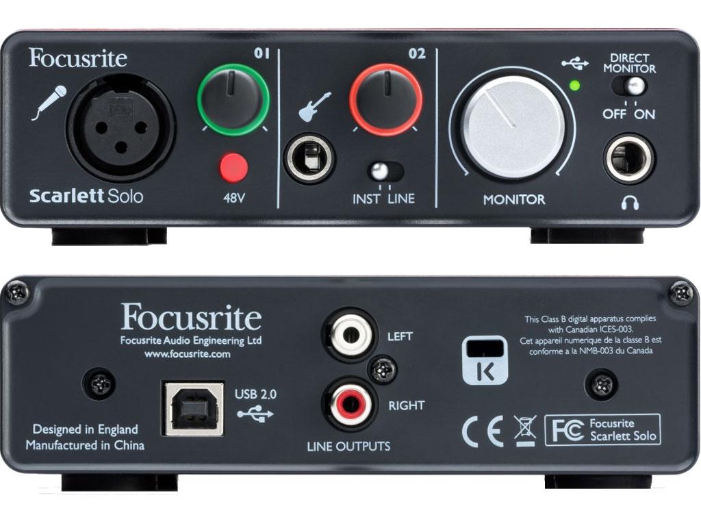 Аудиоинтерфейс FOCUSRITE Scarlett Solo (2nd Gen) USB