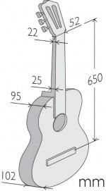 Классическая гитара со звукоснимателем Alhambra 4P E2