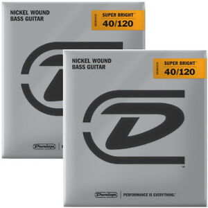 Струны для бас-гитары Dunlop DBSBN40120 Super Bright Nickel (40-120)