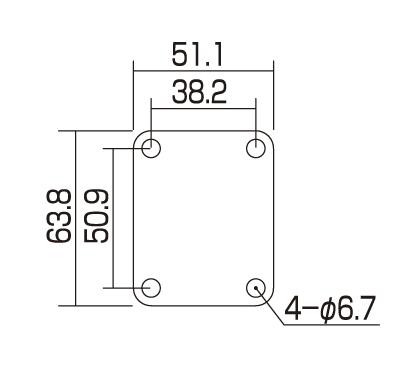 Пластина для крепления грифа Gotoh NBS-3 C