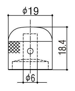 Gotoh VK1-19 B. Ручка потенциометра.