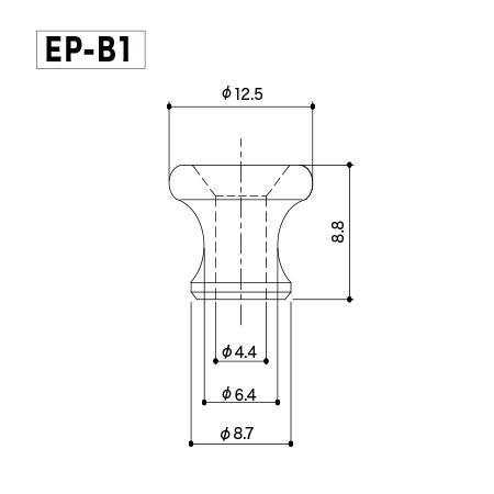 Gotoh EP-B1 N. Комплект пуговиц (держателей ремня).