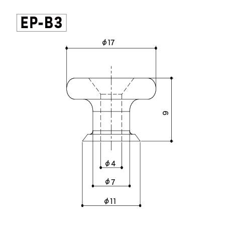 Gotoh EP-B3 B. Комплект пуговиц (держателей ремня).