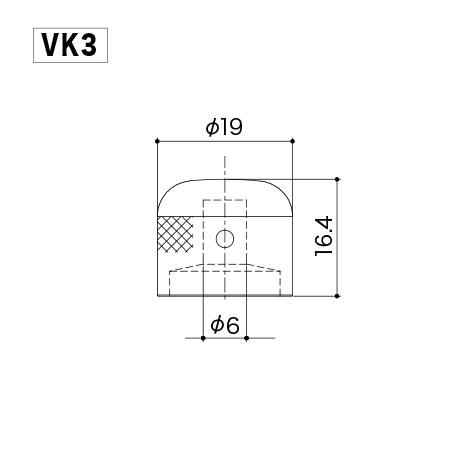 Gotoh VK3 B. Ручка потенциометра.
