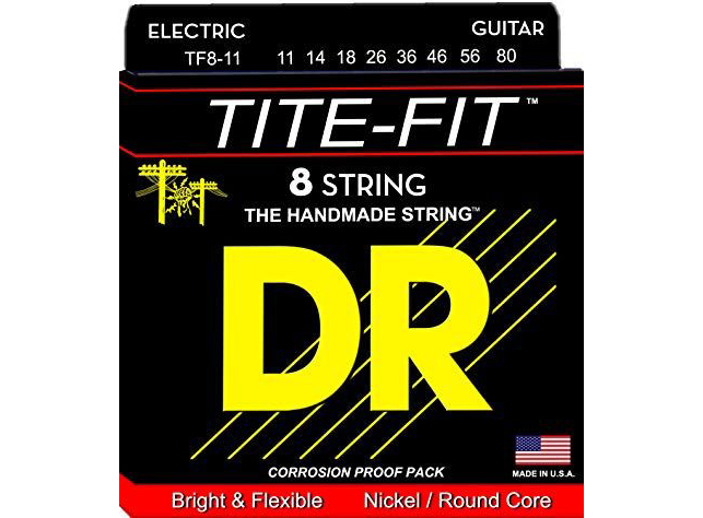 Струны для электрогитары DR Tite-Fit TF8-11 11-80 8-Strings