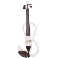 Электроскрипка размером 4/4 Mirra VE-400WH белая (чехол и смычок в комплекте)