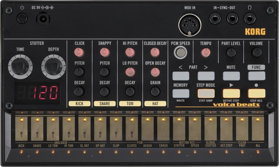 Аналоговый синтезатор/драм-машина Korg Volca Beats