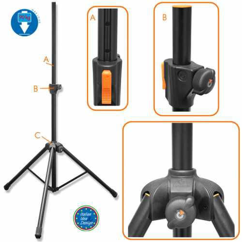 Стойка для акустических систем Bespeco PN90XLNO