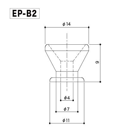 Комплект держателей ремня Gotoh EP-B2 B