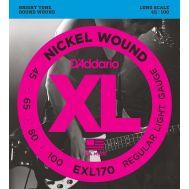 Струны для бас гитар D'Addario EXL170