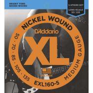 Струны для бас гитар D'Addario EXL160-5