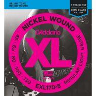 Струны для бас гитар D'Addario EXL170-5 45-130