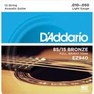 Струны для 12-стр акустической гитары D'Addario EZ940