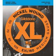 Струны для бас гитар D'Addario EXL160
