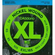 Струны для бас гитар D'Addario EXL165
