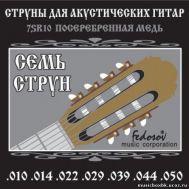 Струны для акустической гитары Fedosov 7SR10