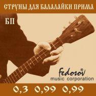 Струны для балалайки прима Fedosov БП