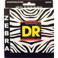 Струны для акустических и электрогитар DR ZAE-11 (11-50) ZEBRA