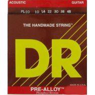 Струны для акустической гитары DR PL-10 (10-48) Pre-Alloy