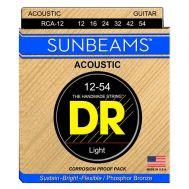 Струны для акустической гитары DR RCA-12 (12-54) Sunbeams