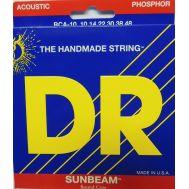 Струны для акустической гитары DR RCA-10 (10-48) Sunbeams