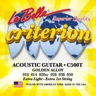 Струны для акустической гитары La Bella С500-Т 10-50