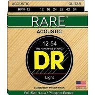 Струны для акустической гитары  DR Rare RPМ-12 (12-54)