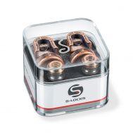 Держатель ремня (стреплок) Schaller 14010801 Security Lock Vintage Cppper.
