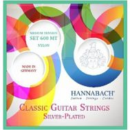 Струны для классической гитары Hannabach 600MT Silver-Plated Green.