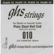 Одиночная струна для акустической и электрогитары GHS 0.010
