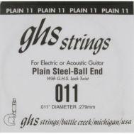 Одиночная струна для акустической и электрогитары GHS 011
