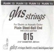 Одиночная струна для акустической и электрогитары GHS 0.015.