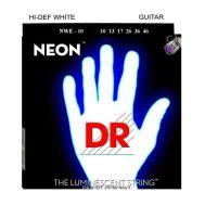 Струны для электрогитары с люминесцентным покрытием (белые) DR NWE-10 HI-DEF NEON™  10-46