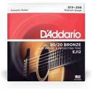 Струны для акустической гитары D'addario EJ12 (13-56)