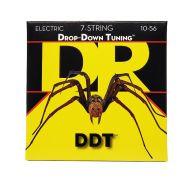 Струны для 7-струнной электрогитары DR DDT7-10 10-56
