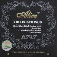 Комплект струн для скрипки размером 4/4 Alice A747