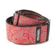 Гитарный ремень Dunlop D67-11 STRAP JACQUARD PAISLEY RED - EA