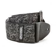 Гитарный ремень Dunlop  D67-14 STRAP JACQUARD BLACK THISTLE