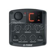 Гитарный эквалайзер цифровой 4-х полосный с тюнером и контролем обратной связи Cherub GT-3