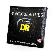 Струны для  7-струнной электрогитары  DR BKE7-10 BLACK BEAUTIES™  10 - 56 (черные)