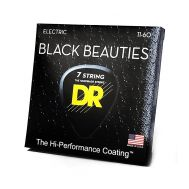 Струны для  7-струнной электрогитары DR BKE7-11 BLACK BEAUTIES™ 11-60