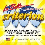 Струны для акустической гитары La Bella C500TT
