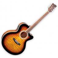 Электроакустическая гитара Jay Turser JTA424-QCET-TSB